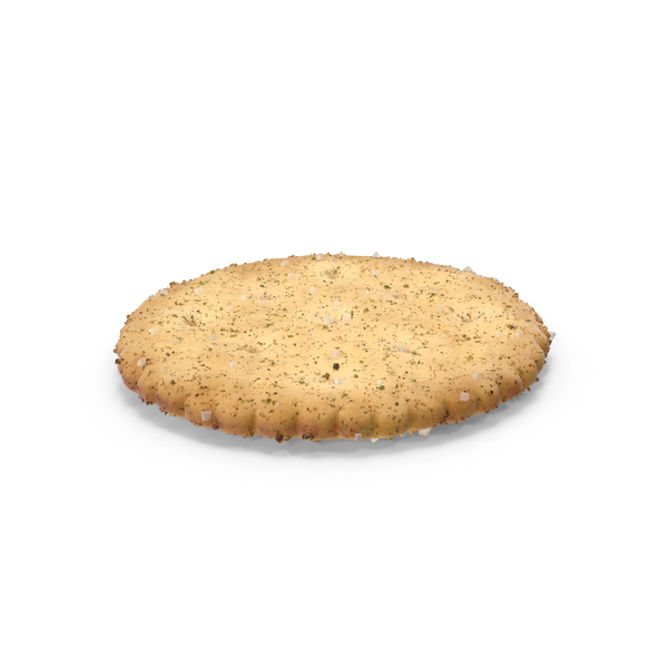 Circular Cracker with Seasoning PNG & PSD Images