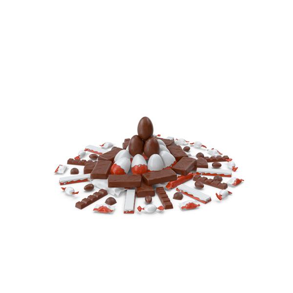 Circular Pile of Mixed Chocolate Candies PNG & PSD Images