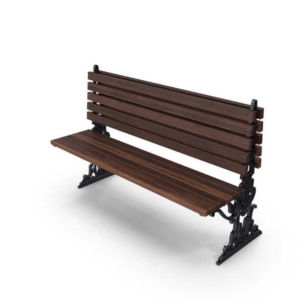 City Bench Chocolate One Sided PNG & PSD Images