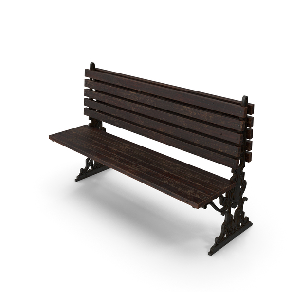 City Bench Damaged One Sided PNG & PSD Images