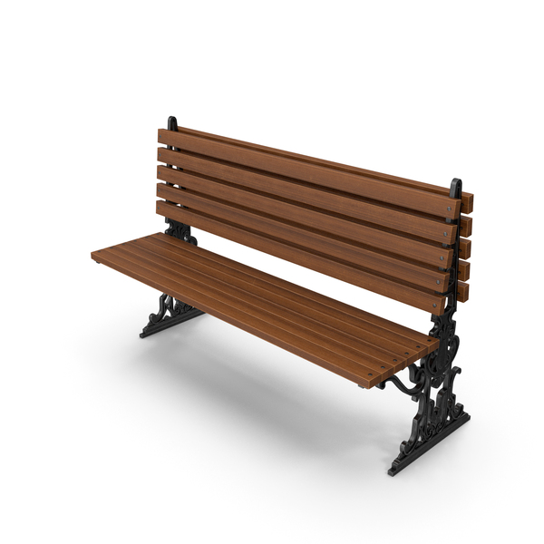 City Bench Oak One Sided PNG & PSD Images