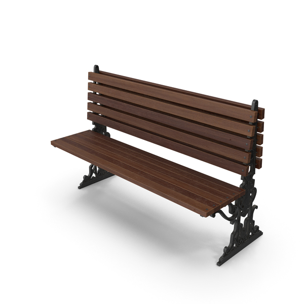 City Bench Walnut One Sided PNG & PSD Images