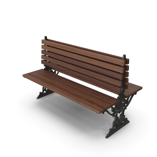 City Bench Walnut PNG & PSD Images