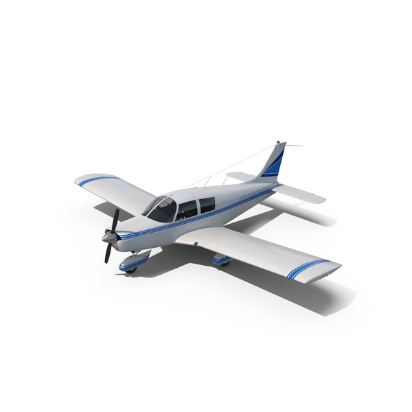 Private Propeller Plane: Civil Utility Aircraft Piper PA 28 Cherokee PNG & PSD Images