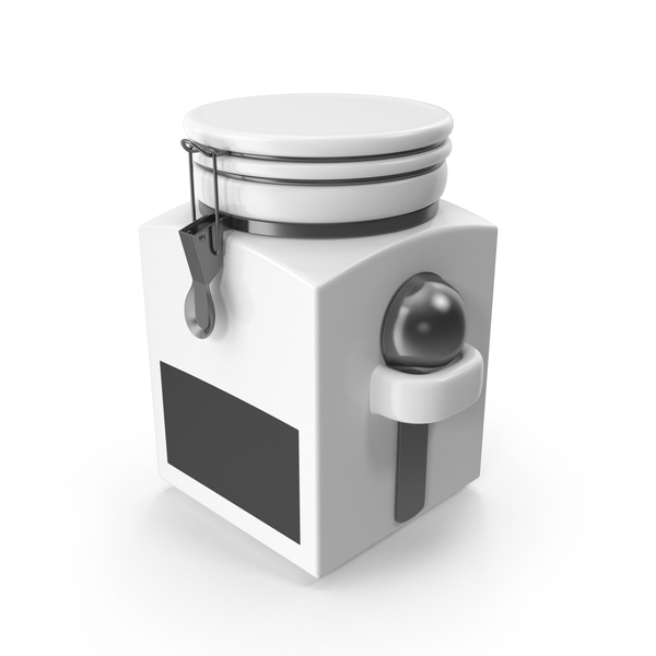 Food Tin: Clamp Canister PNG & PSD Images