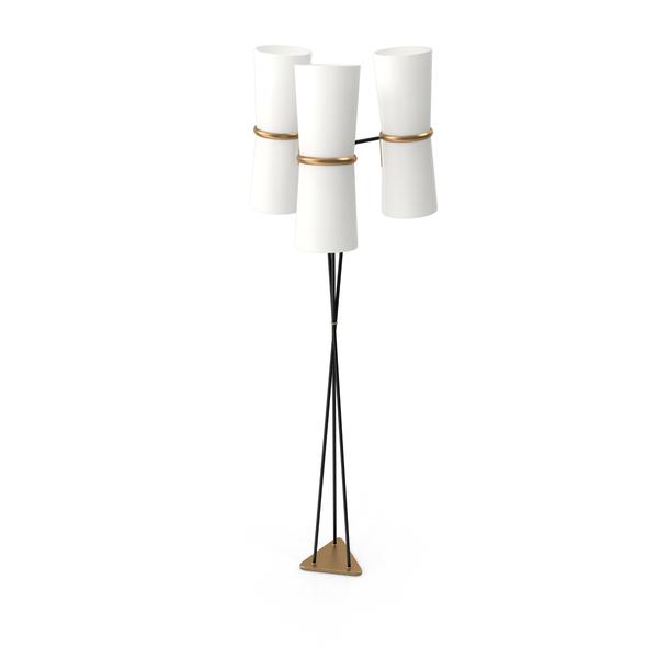 Clarkson Triple Floor Lamp PNG & PSD Images