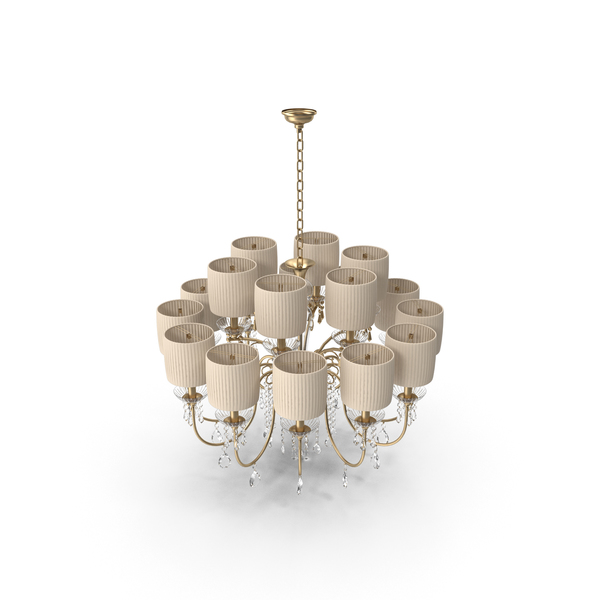 Classic Crystal Luxury Chandelier PNG & PSD Images