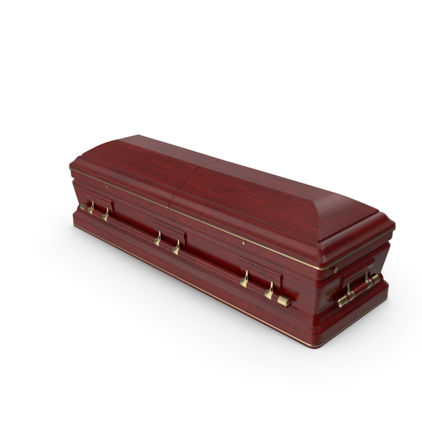 Coffin: Classic Design Wooden Funeral Casket PNG & PSD Images