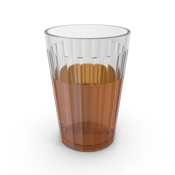 Classic Facet Soviet Glass with Tea PNG & PSD Images