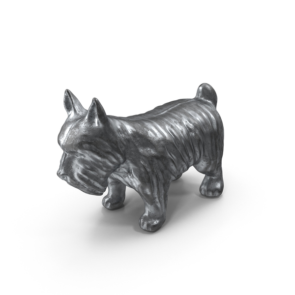 Classic Monopoly Dog Piece Object