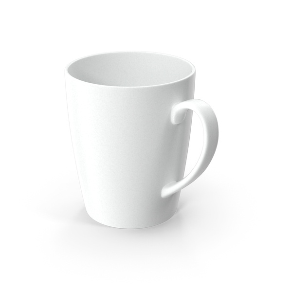 Coffee Cup: Classic Style White Ceramic Mug PNG & PSD Images