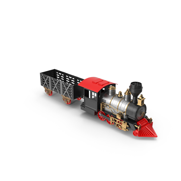 Classic Train Set For Kids PNG & PSD Images