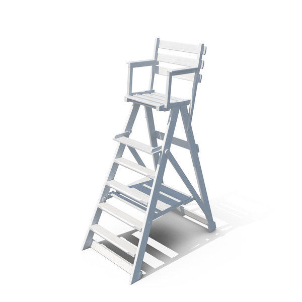 Classic Umpire Chair White PNG & PSD Images