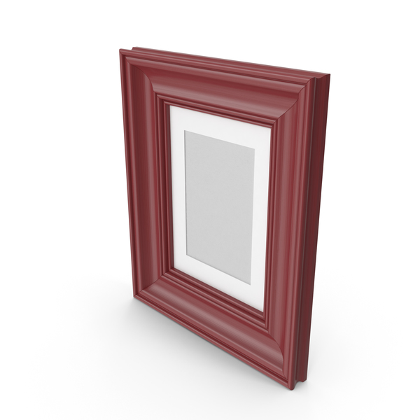 Classic Wooden Picture Frame Dark Red PNG & PSD Images