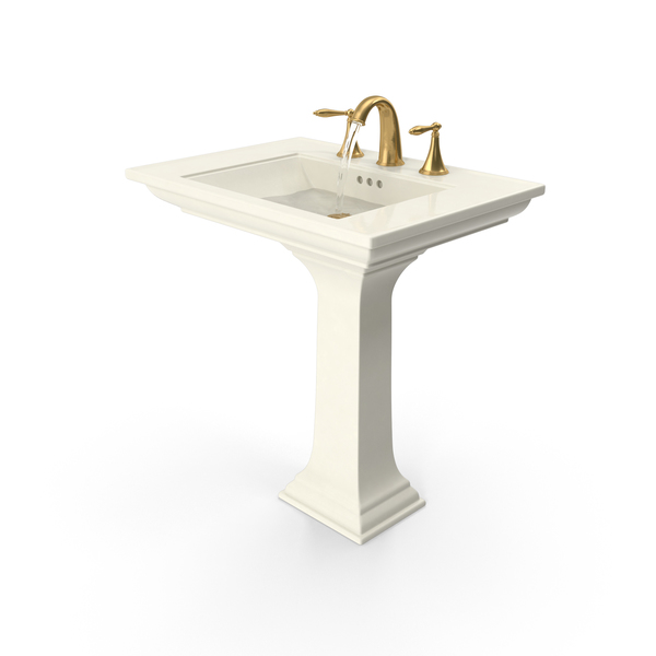 Classical Bathroom Sink Running Water PNG & PSD Images