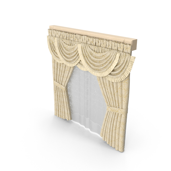 Classical Curtains PNG & PSD Images