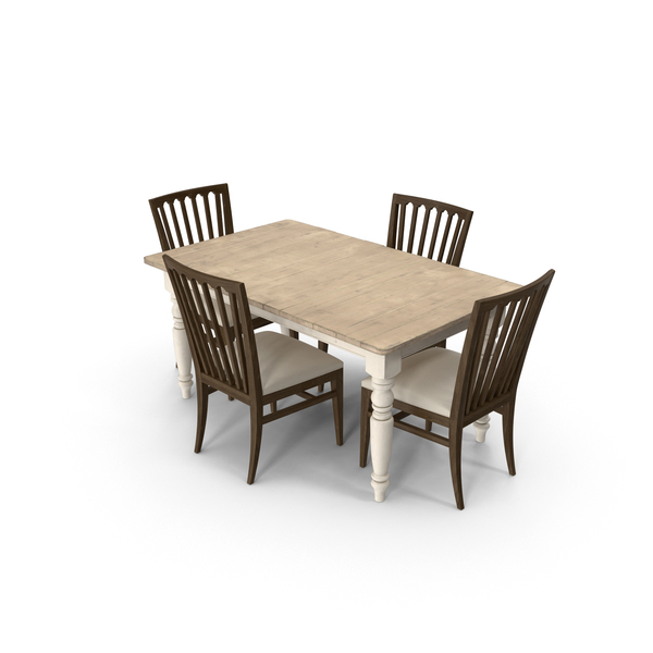 Classical Dining Room Set PNG & PSD Images