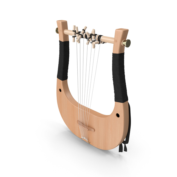 Classical Greek 7 String Lyre PNG & PSD Images
