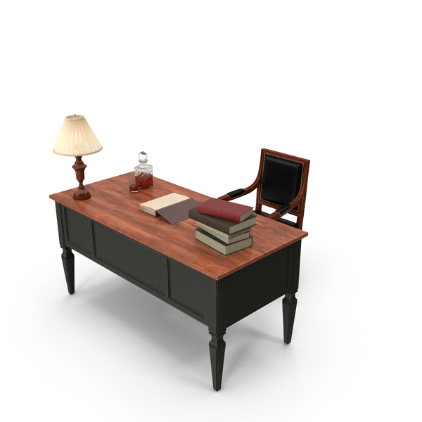 Classical Office Desk PNG & PSD Images