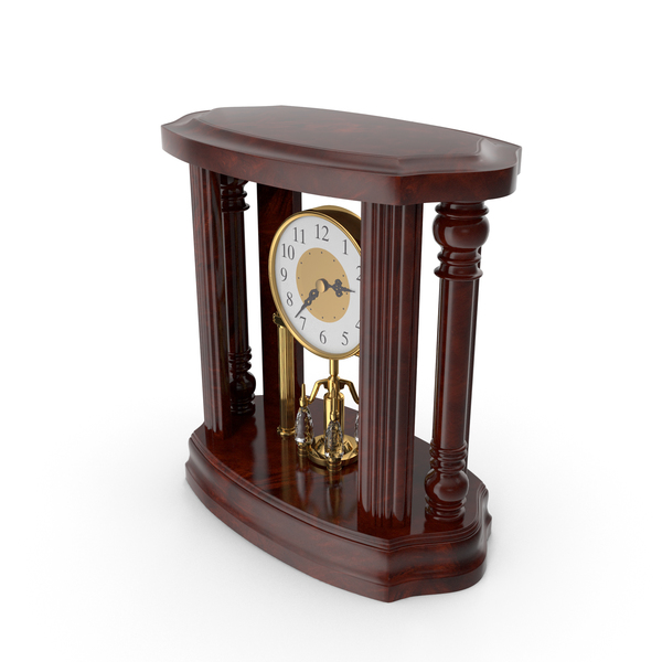 Classical Table Clock 2pm PNG & PSD Images