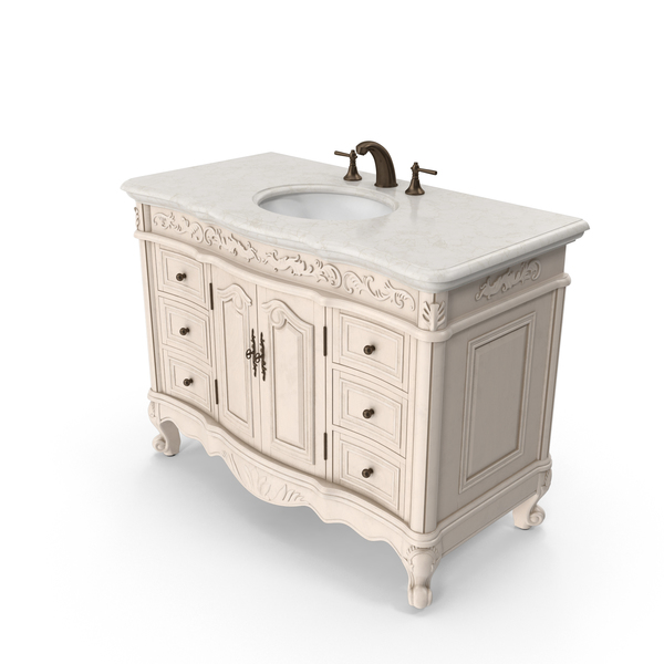 Bathroom Furniture: Classical Vanity PNG & PSD Images