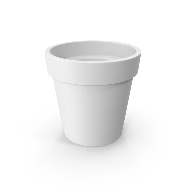 Clay Pot White PNG & PSD Images