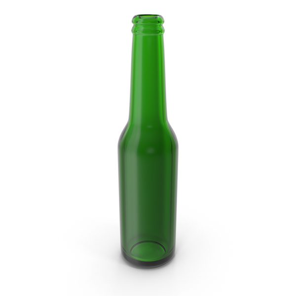 Clean Green Beer Bottle PNG & PSD Images