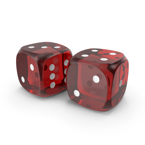 Clear Red Dice PNG & PSD Images
