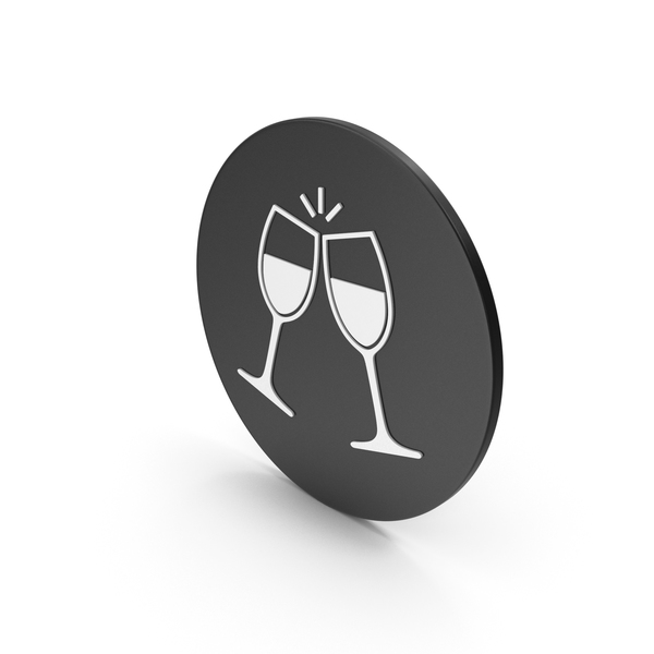 Logo: Clinking Glasses Icon PNG & PSD Images