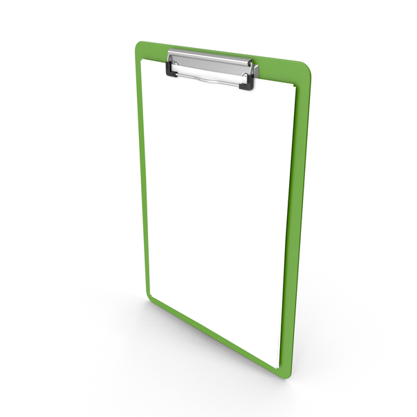 Clipboard Paper Green PNG & PSD Images