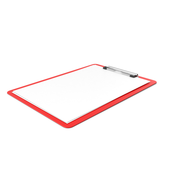 Clipboard Paper Side Red PNG & PSD Images