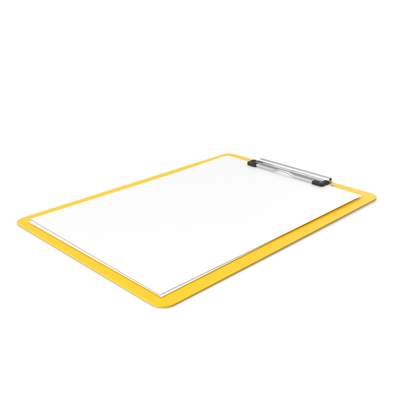 Clipboard Paper Side Yellow PNG & PSD Images