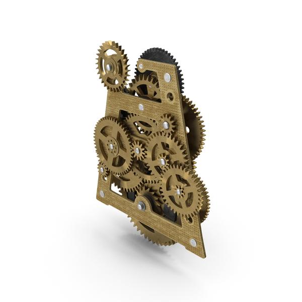 Clock Mechanism: Clockwork Gears Brass PNG & PSD Images