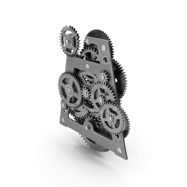 Clockwork Gears Silver PNG & PSD Images