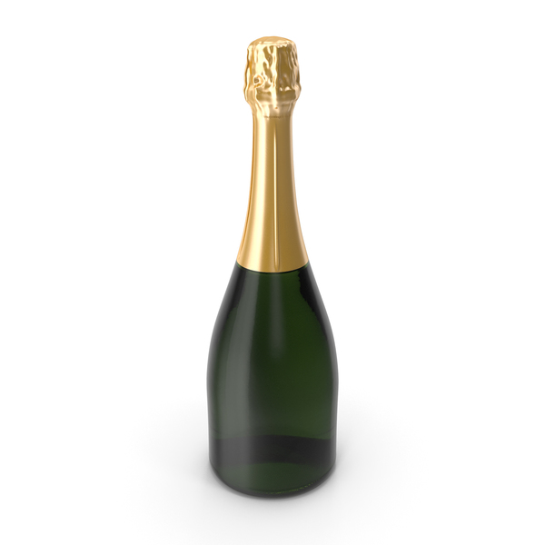 Closed Champagne Bottle PNG & PSD Images