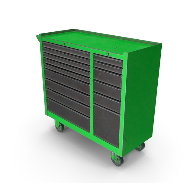 Closed Tool Box Green Used PNG & PSD Images