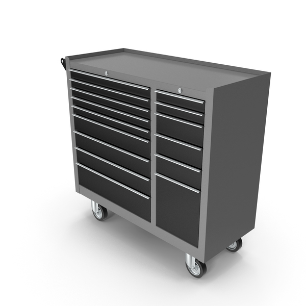 Roller Cabinet: Closed Toolbox Grey New PNG & PSD Images