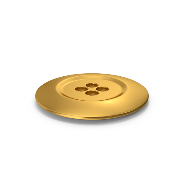 Cloth Button Gold PNG & PSD Images
