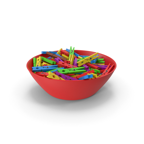 Clothespin: Clothes Pegs in Bowl PNG & PSD Images
