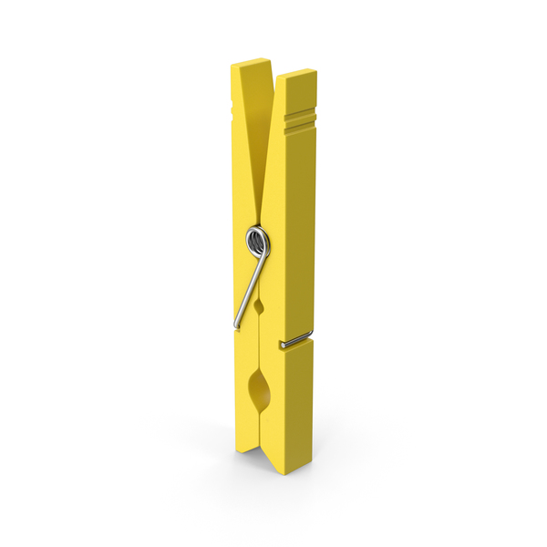 Clothes Pegs Yellow PNG & PSD Images