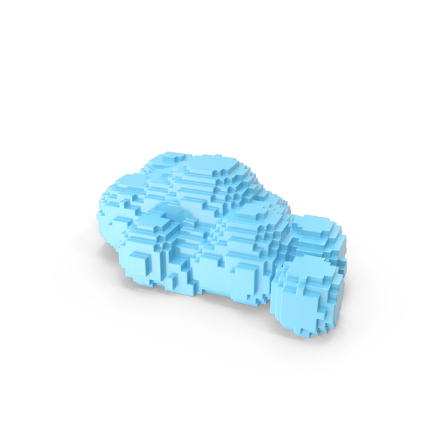 Clouds Volume Pixelated PNG & PSD Images