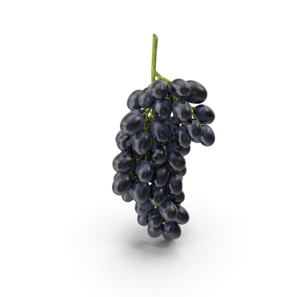 Cluster of Black Grapes PNG & PSD Images
