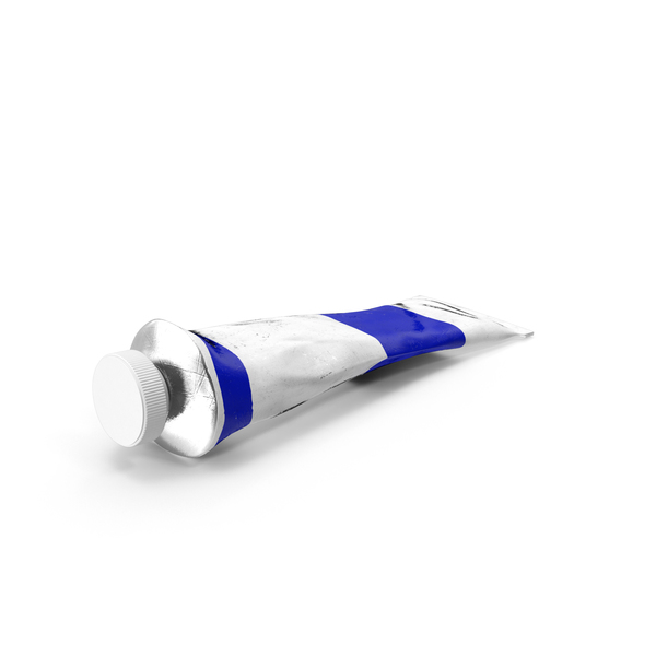 Cobalt Blue Acrylic Paint Tube PNG & PSD Images