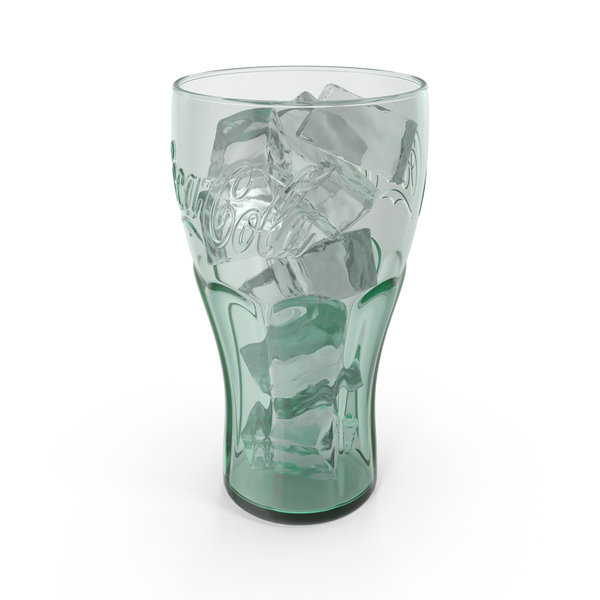 Drink Container: Coca Cola Glass with Ice PNG & PSD Images