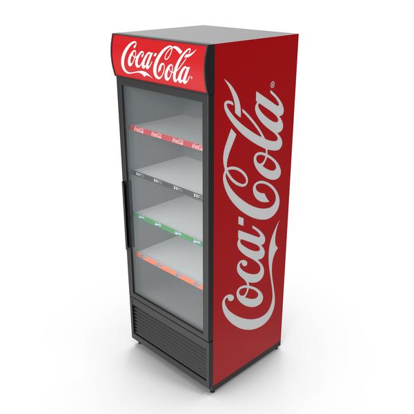 Coca-Cola Refrigerator (Empty) PNG & PSD Images