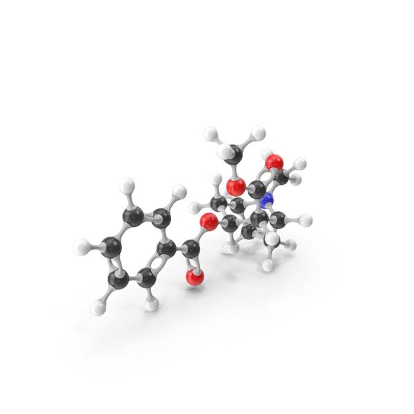 Molecule: Cocaine Molecular Model PNG & PSD Images