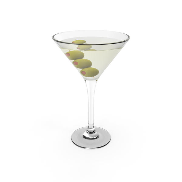 Cocktail Martini With Olives PNG & PSD Images