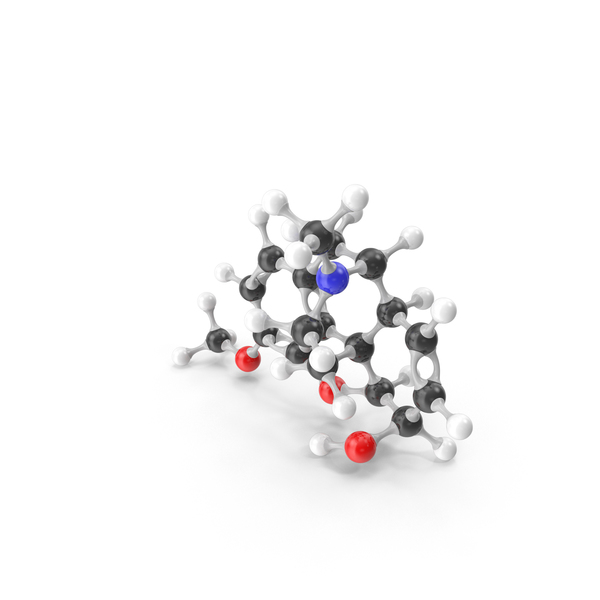 Codeine Molecular Model PNG & PSD Images