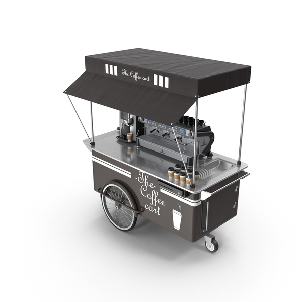 Coffee Cart PNG & PSD Images