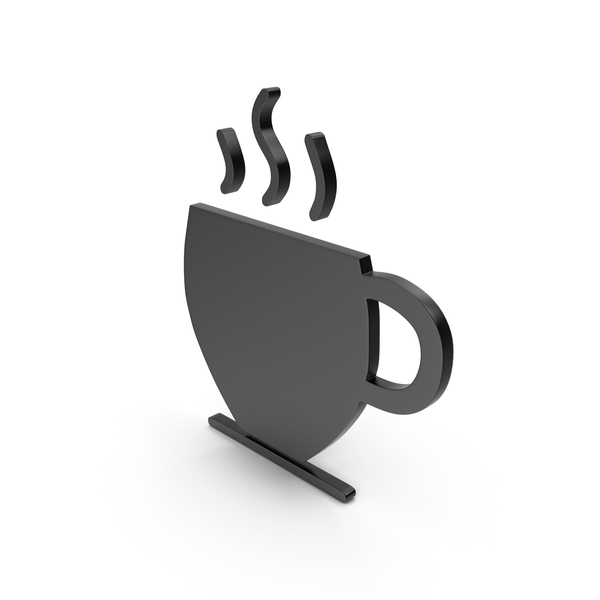 Computer Icon: Coffee Cup Black Symbol PNG & PSD Images